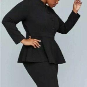 Girls With Curves X Lane Bryant Peplum Blazer